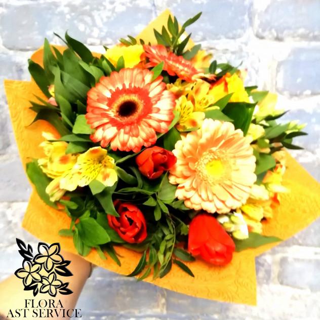 Доставка цветов в офис по казахстану г. астрахань, букет разных