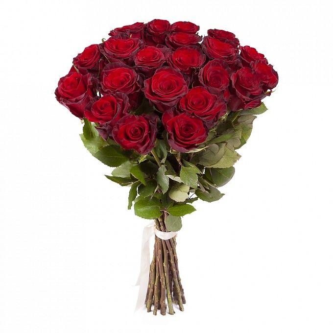 Букет из 21 красной розы премиум